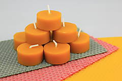 Svietidlá a sviečky - Zero waste čajová sviečka + svietnik - 11616986_