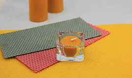 Svietidlá a sviečky - Zero waste čajová sviečka + svietnik - 11616987_