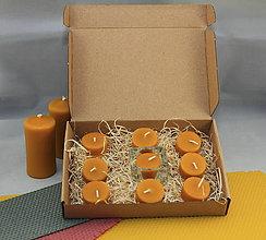 Svietidlá a sviečky - Zero waste sada čajových sviečok 9ks - 11617031_