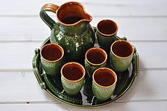 Iné - Keramická sada na víno - 11615367_