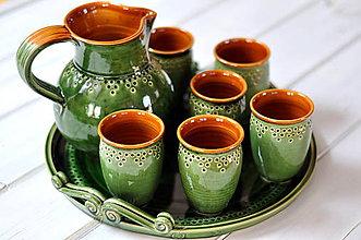 Iné - Keramická sada na víno - 11615365_
