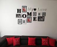 Dekorácie - Nápis HOME: My ♥ Love - 11616442_