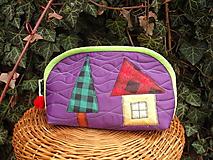 Taštičky - taštička fialová - 11615628_