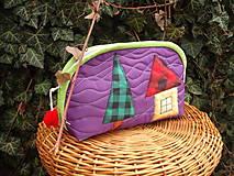 Taštičky - taštička fialová - 11615631_