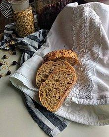 Úžitkový textil - Ľanové vrecko podšité - 11617138_