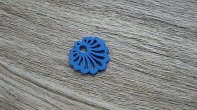 Polotovary - Drevený výrez mušla 2,5 cm - výber z viac farieb, 1ks - 11615802_