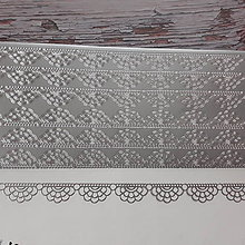 Iný materiál - Samolepka - strieborná bordúra - 11616892_