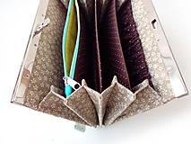 Peňaženky - Peňaženka s priehradkami geometria - 11615642_