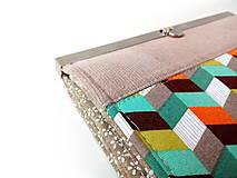 Peňaženky - Peňaženka s priehradkami geometria - 11616327_