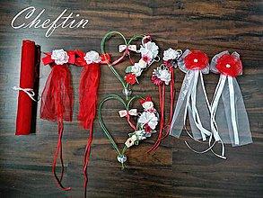 Dekorácie - Set - sýto červený jemný FOLK štýl - 11615387_
