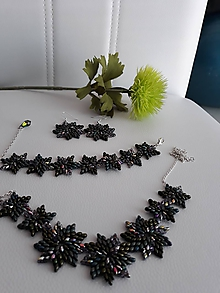 Sady šperkov - SADA Zelené hviezdy - 11617012_