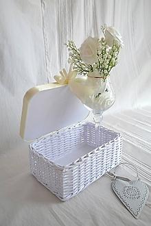 Košíky - Svadobná krabička na dary - 11615952_