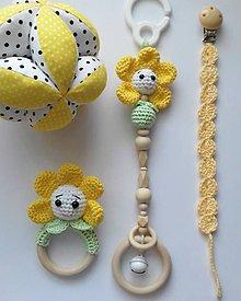 """Hračky - Set """" Žltá kvetinka """" - 11619436_"""