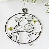 Dekorácie - mačičky na konáriku - 11619038_