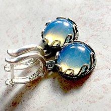 Náušnice - Vintage Filigree Opalite Earrings / Vintage náušnice s opalitom /N0018 - 11619639_