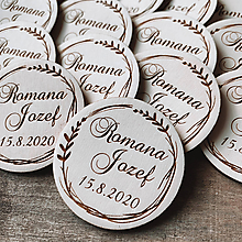Darčeky pre svadobčanov - Magnetky pre svadobčanov venček 4 - 11620733_