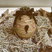Dekorácie - Veľkonočné vajíčko - Strapúch - 11620993_