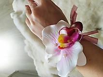 Náramky - Náramok pre družičky - Orchidea - 11618994_