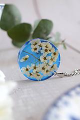 - Náhrdelník Modrý Tavoľník kruh (2838 B CHO) - 11619597_