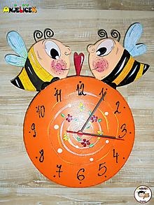 Hodiny - Hodiny - včielky - 11620851_