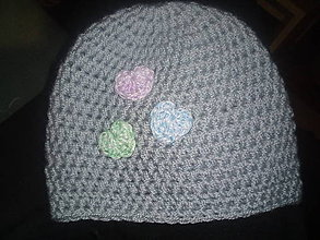 Detské čiapky - Háčkovaná novorodeneckã čiapka - 11621253_