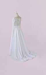 Šaty - Svadobná saténová sukňa s vlečkou - 11620694_