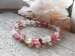 Náramky - Náramok ružový krištáľ - 11621367_