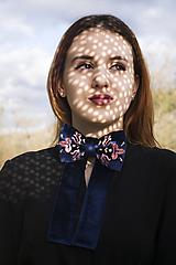 Zamatová dámska mašľa