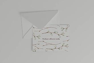 Papiernictvo - Veľkonočná akvarelová pohľadnica   botanická ilustrácia jarných púčikov - 11620316_