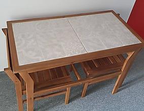 Nábytok - Balkónový stolik a stoličky - 11618863_