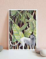 Obrázky - Kráľovná džungle - art print A4, A5 - 11620224_