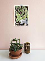 Obrázky - Kráľovná džungle - art print A4, A5 - 11620225_