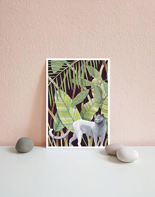 Kráľovná džungle - art print A4, A5