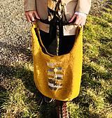 """Veľké tašky - Háčkovaná taška """"Som jedna jediná"""". - 11620820_"""