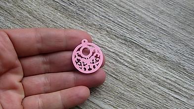 Polotovary - Drevený výrez kruh s motýľom 2,5 cm - výber z viac farieb, 1 ks - 11620496_