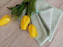 Úžitkový textil - Uteráčik pomáhajúci  (Tyrkysová) - 11620921_