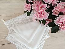 Úžitkový textil - Uteráčik pomáhajúci  (Biela) - 11620932_