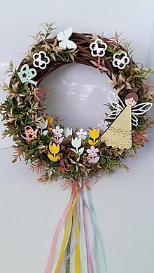 Dekorácie - Veniec Motylkina zahrada 3D - 11619957_