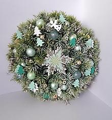 Dekorácie - Vianocny veniec Snehová vločka - 11620233_
