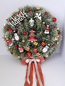 Dekorácie - Retro vianocny veniec - 11620574_