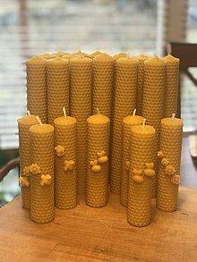 Svietidlá a sviečky - Sada Zdobených voňavých  sviečok - 11618676_