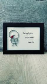 3D obrázok z papierových krúžkov - z lásky (voliteľný text)