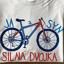 Oblečenie - Otcosynovské maľované tričká s motívom bicykla (Pánske tričko XXL) - 9638151_