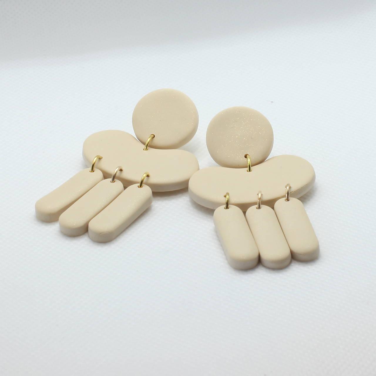 Náušnice - Krémové perleťové - 11621699_
