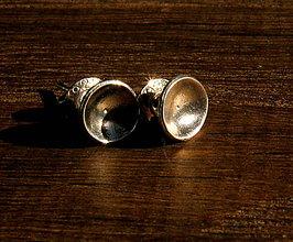Náušnice - Stříbrné mističky - 11620510_