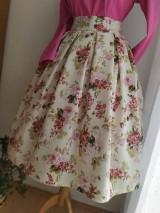 Sukne - Kvetovaná retro sukňa - 11619993_