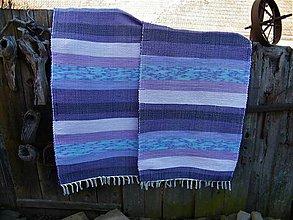 Úžitkový textil - Tkané koberce fialové, skladom - 2 ks - 11621439_