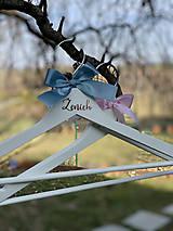 Nábytok - Svadobné vešiaky ružovomodré - 11624486_