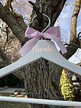 Nábytok - Svadobné vešiaky ružovomodré - 11624489_