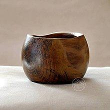 Nádoby - Drevená orechová miska Ø11-13/11 - 11622966_